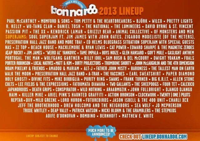 bonnaroo lineup photo