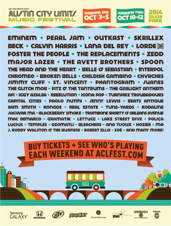 acl festival lineup