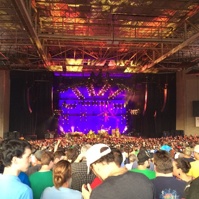 Phish @ Great Woods 2014 | New light rig arrangement | Photo © @runawayjimpvd
