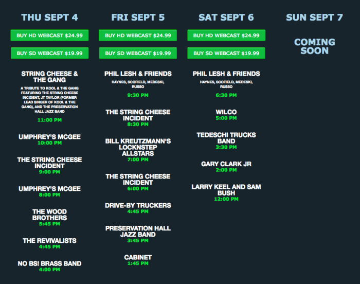LOCKN' Festival Webcast This Weekend on nugs.tv