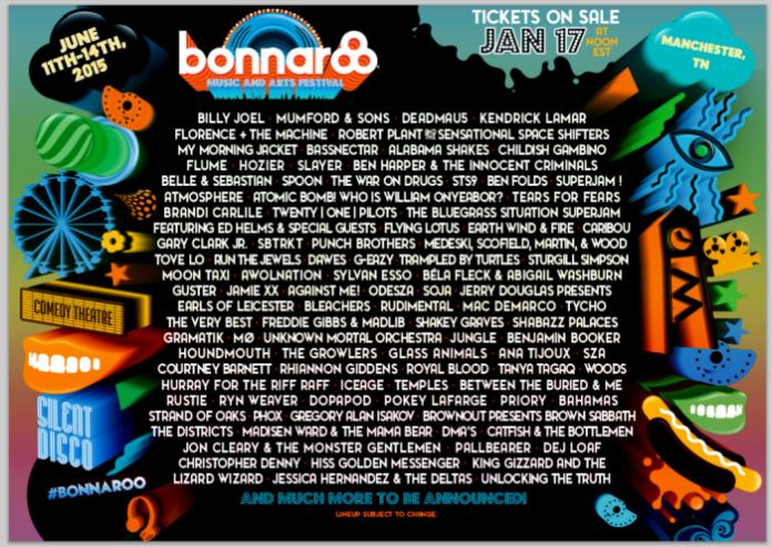 bonnaroo lineup press release