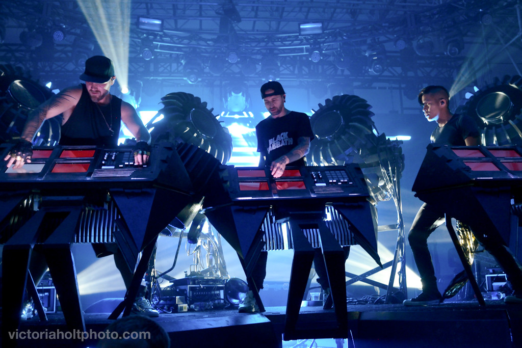 The Glitch Mob performs on the El Chupacabra Stage on Monday, May 25th, 2015.