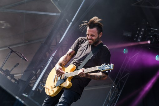 Blue October performing at LouFest in St. Louis on September 12, 2015.