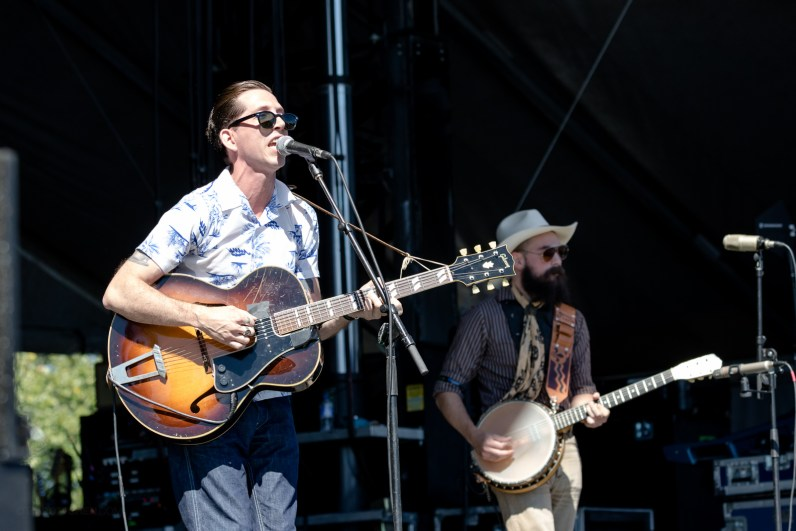 Pokey LaFarge performing at LouFest in St. Louis on Sunday September 13, 2015.