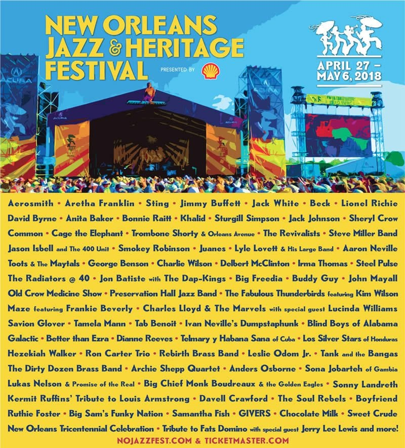 Jazz & Heritage Fest Lineup Announced