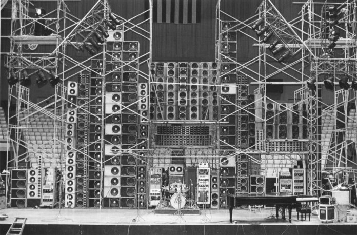 Grateful Dead Wall of Sound Debut @ Cow Palace 3.23.74 © Richard Pechner