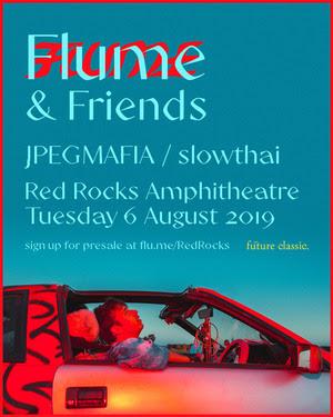 flume announces red rocks 2019 appearance with jpegmafa-and-slowthai