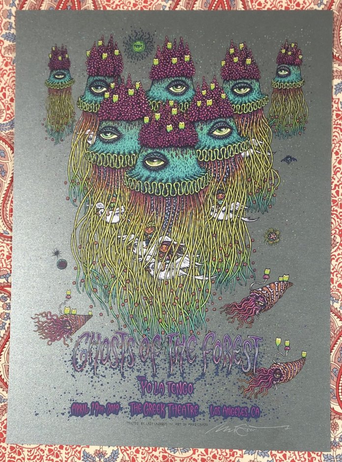 ghosts of the forest spusa poster greek theatre los angeles