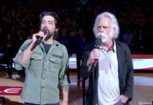 bob weir jackie green sing national anthem nba game may 8 2019