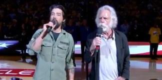 bob weir jackie green sing national anthem nba game may 8 2019