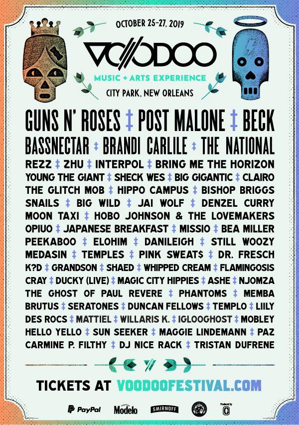 voodoo 2019 lineup just announced