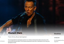bruce springsteen announces western stars film debut at tiff