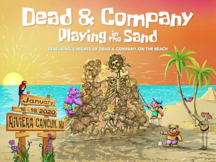 dead and company playing in the sand 2020 announced riviera cancun mexico