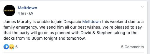 james murphy cancels despacio meltdown festival 2