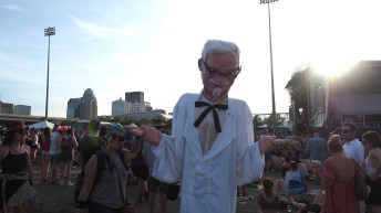 Aubrey and Colonel Sanders - Forecastle 2016