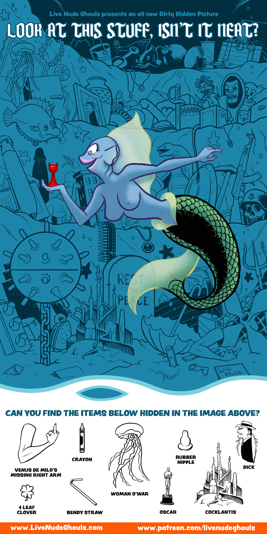 Dirty Hidden Picture: a Re-Run for Mermay
