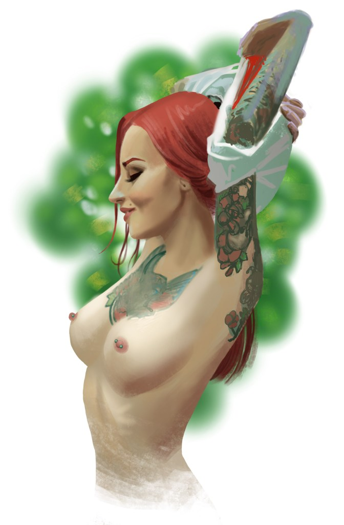 Portrait painting of SuicideGirl Janesinner