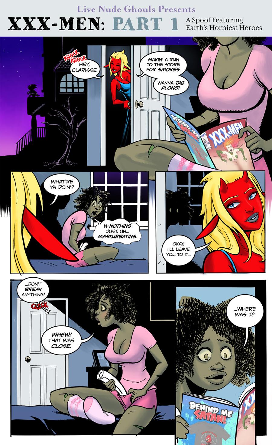 XXX-Men: Part 1 – A Live Nude Ghouls Spoof Comic