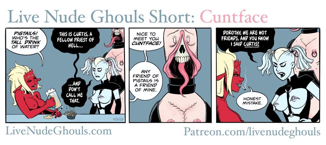 Devil girl Dorothy meets Cuntface, the Cenobite.