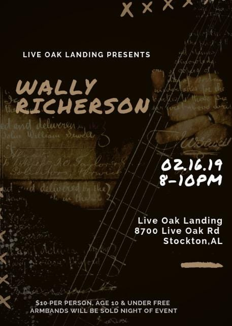 Wally Richerson Live - February 16th