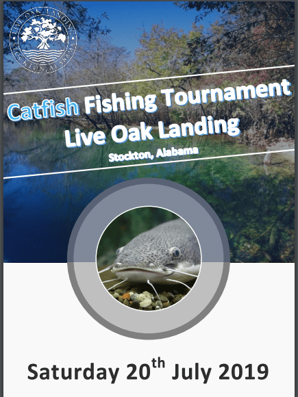 2019 Live Oak Landing Catfish Fishing Tournament - Saturday July 20th