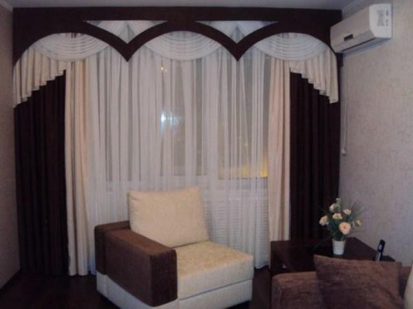 Дизайн штор для зала: фото, правила выбора, особенности ...
