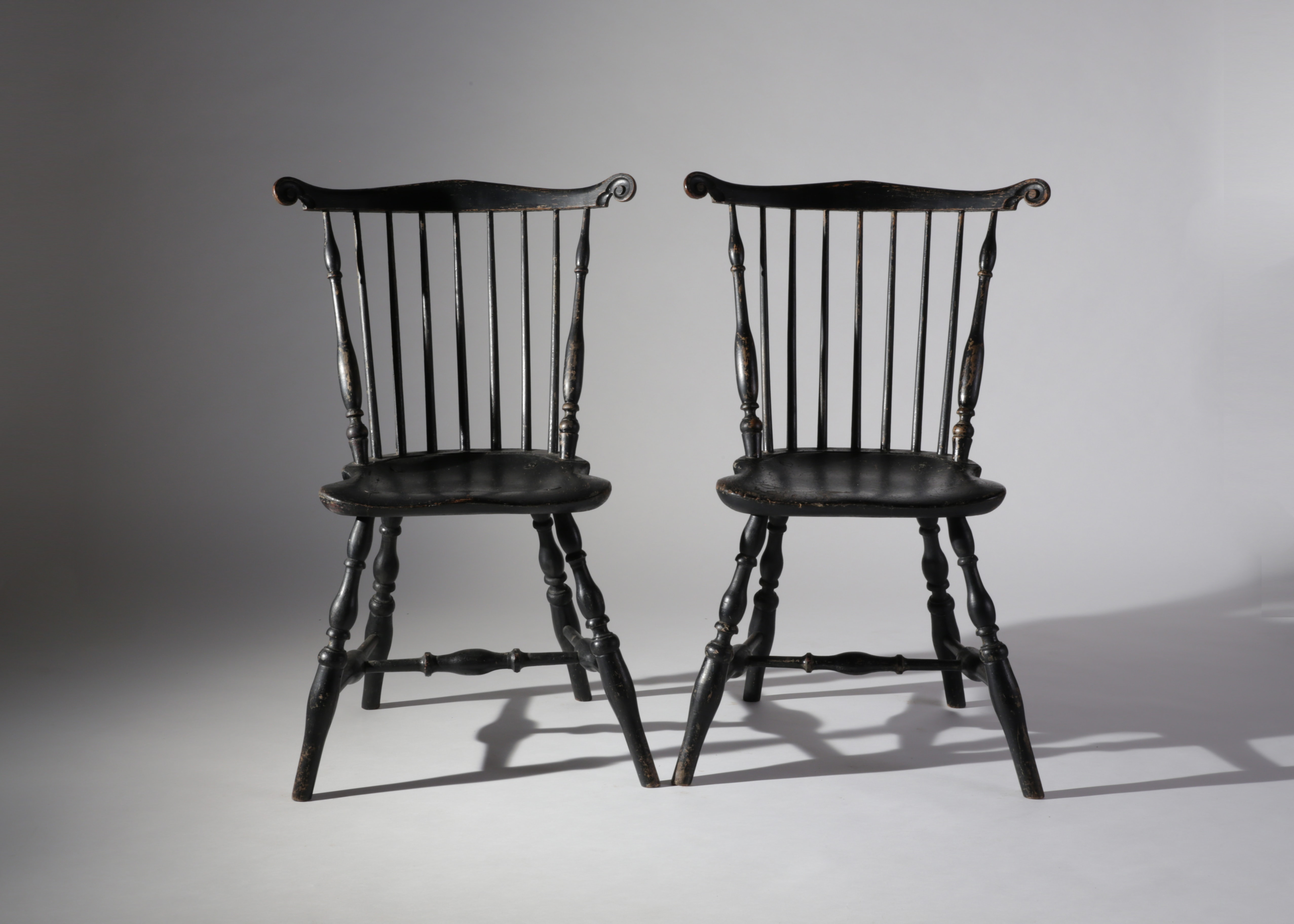 Pair Of Chippendale Cherry Ribbon Back Side Chairs