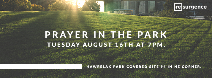 Prayer In The Park August 16 2016