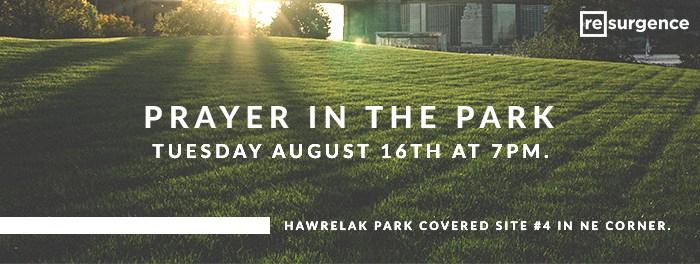 Prayer In The Park August 16 2016