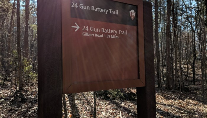 24 Bun Battery Trail Turnoff