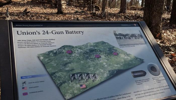 24 Gun historical marker