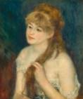 Auguste Renoir Giovane donna che si intreccia i capelli 1876
