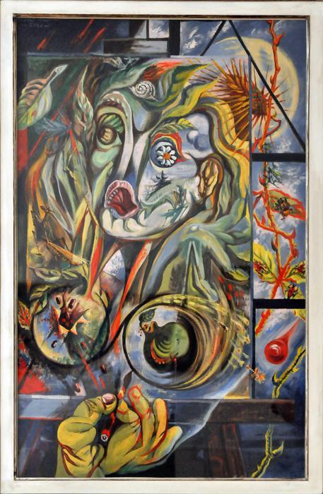 Andrè Masson Balagny sur therain (Francia) 1896-Parigi 1987 Le peintre et le temps, 1938 olio su tela, cm 116x73,4 1998, dono di Arturo Schwarz (foto: ANSA)