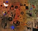 Joan Miró. Femme à la blonde aisselle coiffant sa chevelu