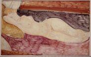 Amedeo Modigliani, «Nudo sdraiato», 1918-1919