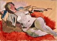 Mino Maccari, «Nudo di donna distesa», 1939