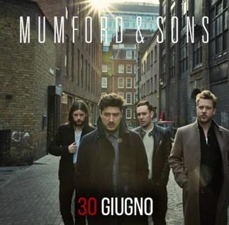 Mumford&Sons il 30 giugno 2015 al Rock in Roma all'Ippodromo delle Capannelle