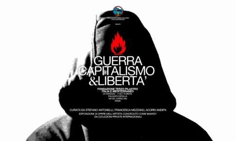 Banksy: Guerra Capitalismo e Libertà in mostra a Roma a Palazzo Cipolla dal 23 maggio 2016