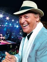 Renzo Arbore il 24 luglio 2017 a Roma all'Auditorium Parco della Musica per Luglio Suona Bene 2017