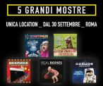 Real Bodies, Cosmos Discovery, Brikmania, Dinosaur Invasion e Scientopolis in mostra a Roma dal 30 Settembre al Guido Reni District