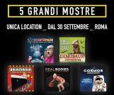 Real Bodies, Cosmos Discovery, Brikmania, Dinosaur Invasion e Scientopolis in mostra a Roma dal 30 Settembre al Guido Reni District