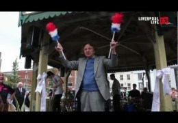 LLTV talks to Ken Dodd at the opening of the Liverpool Bandstand
