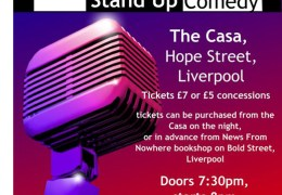 Artsy Poor People present 'A Night of Stand Up Comedy', The Casa (Hope Street), 17th Jan 2014