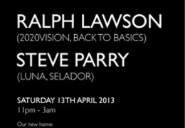 COMING UP: Luna's 1st Birthday with Ralph Lawson, The Shipping Forecast, 13 April