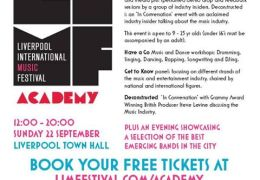 NEWS: Virgin Trains LIMF Academy set to inspire the next generation of Liverpool musicians