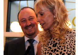 Rafa Benitez on hand at the launch of wife Montse's charity foundation