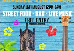 WHATS ON: Lazy Graze Ukulele Takeover | Bombed Out Church | 16.08.15