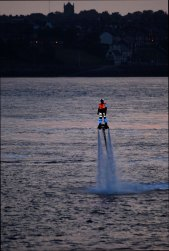 Strange glowing beings on the Mersey