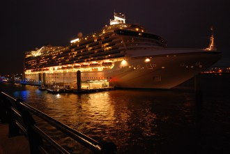 Evening view of Ruby Princess