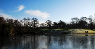 Early frost at Sefton Park Lake